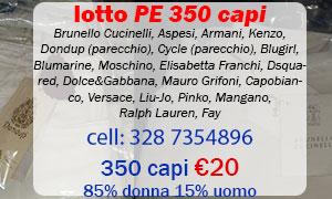 Lotto PE firmato 350 capi