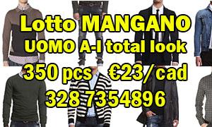 Lotto MANGANO uomo AI 350pcs €23/cad